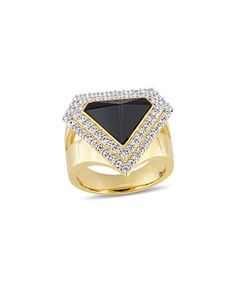 Another great find on #zulily! Black Agate & White Sapphire Mystique Ring #zulilyfinds