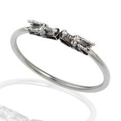 925 Sterling Silver Twin Dragon Cuff Bracelet, Nickel-free Jewelry for Women, Teen Girls, & Men