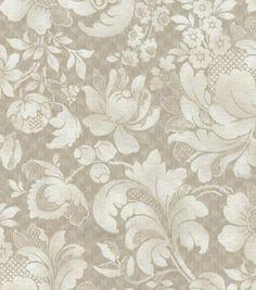P/K Lifestyles Upholstery Fabric-Distinctly Damask/Cobblestone