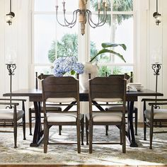 Wood dining table with an extendable leaf.  Product: Dining tableConstruction Material: WoodColor: