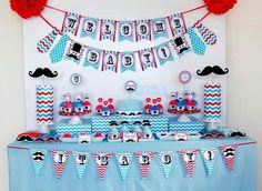 Marie P's Baby Shower / Little Man Mustache Bash - Little Man Mustache Baby Shower at Catch My Party Moustache Party, Mustache Birthday, Mustache Party Decorations, Baby Shower Decorations, Baby Shower Cards, Baby Boy Shower, Shower Party, Baby Shower Parties, Babyshower