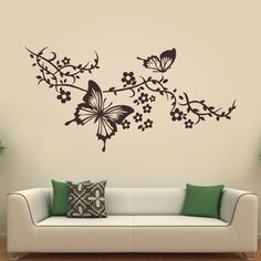New Tree Design Wallpaper Interiors 55 Ideas Wall Stickers Home Decor, Home Decor Wall Art, Room Decor, Black Wall Stickers, Simple Wall Paintings, Tree Wall Murals, Bedroom Wall Designs, Wall Art Designs, Wall Painting Decor