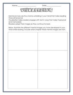 neat visualizing worksheet