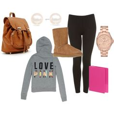 Cute bummy outfit for school or college!or also known as the white girl outfit