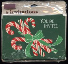 vintage Hallmark CHRISTMAS Party INVITATIONS by vintagerecycling, $6.00
