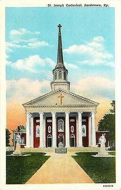 Bardstown Kentucky KY 1916 St Joseph Cathedral Antique Vintage Postcard Bardstown Kentucky KY 1916 St. Joseph Cathedral. Unused Curteich collectible antique vintage postcard in very good condition wit