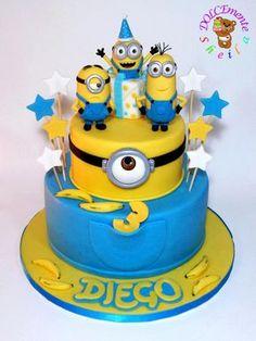 Original tarta para fiesta de cumpleaños Minions