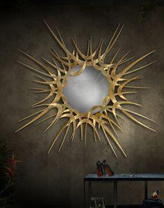 GUILT sunburst mirror by Koket.