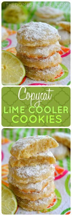 These Copycat Lime Cooler Cookies are buttery, crisp shortbread cookies bursting with juicy key lime flavor! You'll love these bright, citrusy cookies.