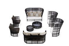 TIBIDABO Armchair by Varaschin design Calvi Brambilla