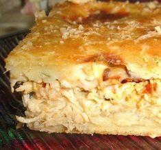 Aprenda a preparar essa deliciosa torta de frango  Ingredientes Massa: 2 copos (300 ml) de leite 2 copos (300 ml) de farinha de trigo 1 copo (300 ml) de óleo de soja 100 g de queijo