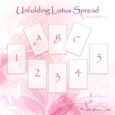 The Unfolding Lotus Spread is a tarot spread used to reveal omens on the path of an existing timeline. See what may or may not be ready to unfold for you. Click image to get the instructions. / Photo © www.VioletAura.com