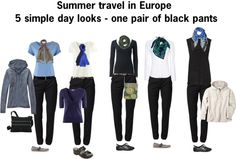 """Summer travel in Europe - 5 looks"" by heidi-barry-rodriguez on Polyvore"
