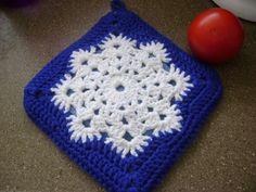 Snowflake Crochet Pad FREE pattern - Knit for Homestart - Loveknitting blog