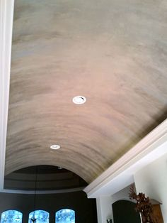 Added lusterstone to this barrel ceiling. Look at colour. Blue and bray