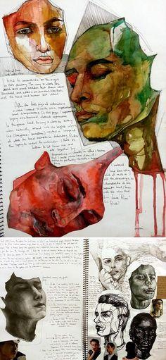 Ideas, gcse art sketchbook, sketchbook layout, art journal inspiration, art i Kunstjournal Inspiration, Sketchbook Inspiration, Sketchbook Ideas, Art Inspiration Drawing, Art Sketches, Art Drawings, Drawing Art, Drawing Ideas, Sketch Ideas