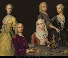 """Jacob Denner: """"The Denner Family"""" (English title), oil on canvas"""