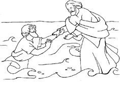 jesus walks on water coloring pages.html