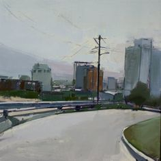 chelsea bentley james - you should really check her stuff out! Urban Landscape, Abstract Landscape, Landscape Paintings, Landscapes, Chelsea James, Figurative Art, Impressionism, Les Oeuvres, Light In The Dark