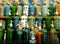 Soda siphons at the San Telmo Sunday market in Buenos Aires
