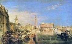 Joseph Mallord William Turner - Bridge of Sighs, Ducal Palace and Custom-House, Venice, 1833