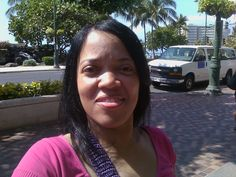Waikiki Beach.  I was HOT and I was HUNGRY; the look on my face : ) But the beach (area) is gorgeous.