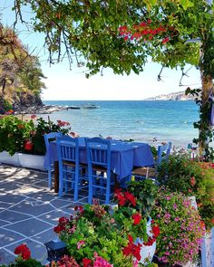 Nice morning on the beautiful island of Thassos, Greece Dream Vacations, Vacation Spots, Places Around The World, Around The Worlds, Beautiful World, Beautiful Places, Places To Travel, Places To Go, Poster Mural