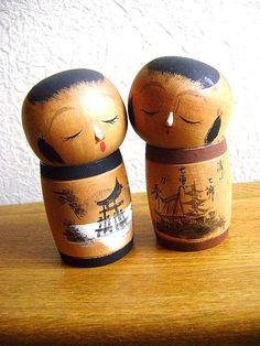 Japanese Kokeshi Doll Vintage Cute Girls