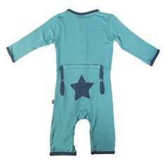 favorite brand - kickee pants // Applique Coverall in Pond Elephant
