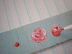 How to paint sweet little roses