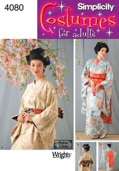 Womens Geisha Costume Sewing Pattern 4080 Simplicity: adapt for Padme