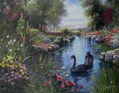 7 das Artes: Paisagens encantadoras! lindas as pinturas do artista Andres Orpinas