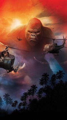 King Kong on Skull Island Kong Skull Island Movies, King Kong Skull Island, Kong Skull Island Poster, Witcher Wallpaper, Godzilla Wallpaper, Monster Verse, King Kong Vs Godzilla, Kong Movie, Rock Poster