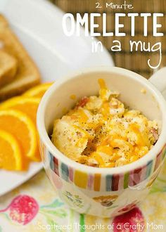 Two-Minute Omelet in a Mug // also pinning for coffee cakes!
