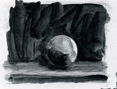 Gerhard Richter, Ball, 14.6.1991 (1991), Indian ink (pen and brush) on paper, 29.9 cm x 40 cm