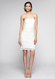 Bachelorette Party Dress!    ideeli | ADRIANNA PAPELL Strapless Beaded Dress