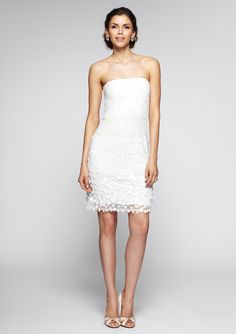 Bachelorette Party Dress!    ideeli | ADRIANNA PAPELL Strapless Beaded Dress