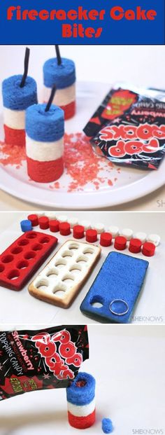 Firecracker Cake Bites - OK, this is pretty cool