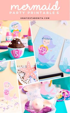 Mermaid - Party printable  Imprimibles para fiestas - sirenas