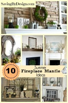 Not sure what to do with your fireplace for the summer?  Take a look at these fabulous fireplace mantles for summer for inspiration!