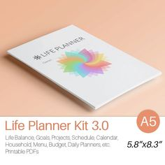 LIFE PLANNER A5 5.83 x 8.27 35 printable PDF. by EasyLifePlanners
