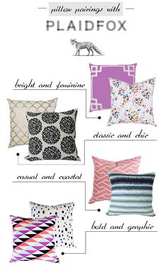 Pillow pattern mixing ideas