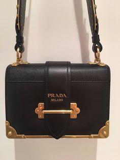 2018 NEW AUTHENTIC PRADA CAHIER NOTEBOOK LEATHER SHOULDER DESIGNER BAG  Prada Sale 3f3e9f858e683