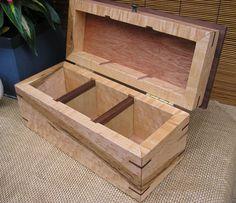 Loose Tea Box, Tea Box,Tea Tins, Birdseye Maple