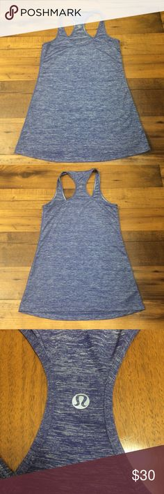 Lululemon Cool Racerback Racerback tank in space-dyed purple. No size sticker, but it is about a size small. Like new condition. lululemon athletica Tops