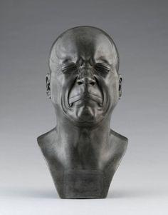 """L'Homme de mauvaise humeur"" (1783) by Franz Xaver Messerschmidt  (1736-1783)"