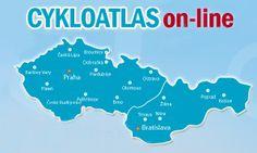 CYKLOATLAS ČESKO-SLOVENSKA:  najlepšia a podrobná cyklo a turistická mapa na webe.
