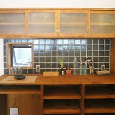 収納/ガラス/タイル/キッチン/カップボード/造作家具...などのインテリア実例 - 2017-08-29 09:00:21   RoomClip (ルームクリップ)