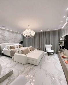 Modern Luxury Bedroom, Luxury Bedroom Design, Home Room Design, Luxurious Bedrooms, Home Interior Design, Living Room Designs, Sophisticated Bedroom, House Design, Room Ideas Bedroom