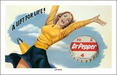 Dr Pepper A Lift for Life Vintage Print | American Giclee Art Gallery